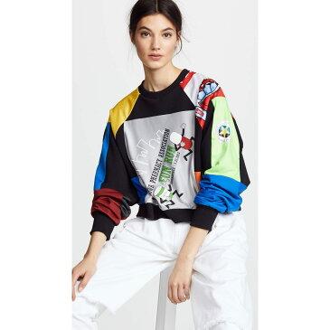 クセニア シュナイダー レディース トップス スウェット・トレーナー【Cropped Vintage Sweatshirt】Multi