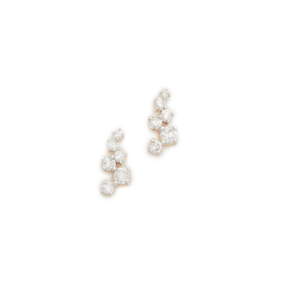 アディナ レイター レディース ジュエリー・アクセサリー イヤリング・ピアス【14k Gold Scattered Diamond Stud Earrings】Gold