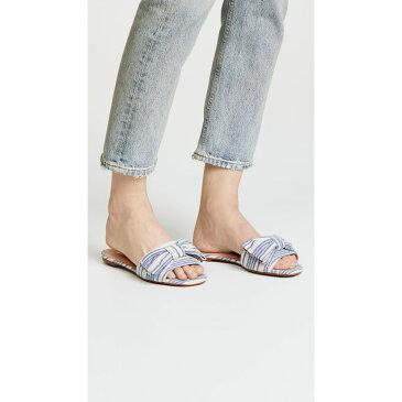 ボトキエ レディース シューズ・靴 サンダル・ミュール【Marilyn Bow Slides】Blue Stripe