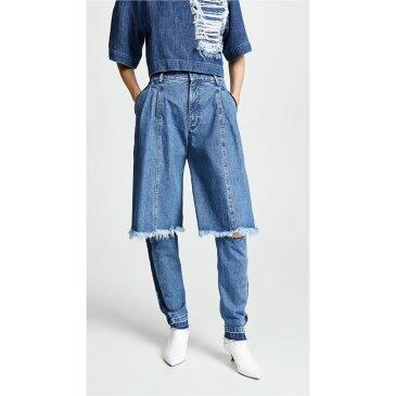 クセニア シュナイダー Ksenia Schnaider レディース ボトムス・パンツ ジーンズ・デニム【Jeans with Contrast Sides】Medium Blue