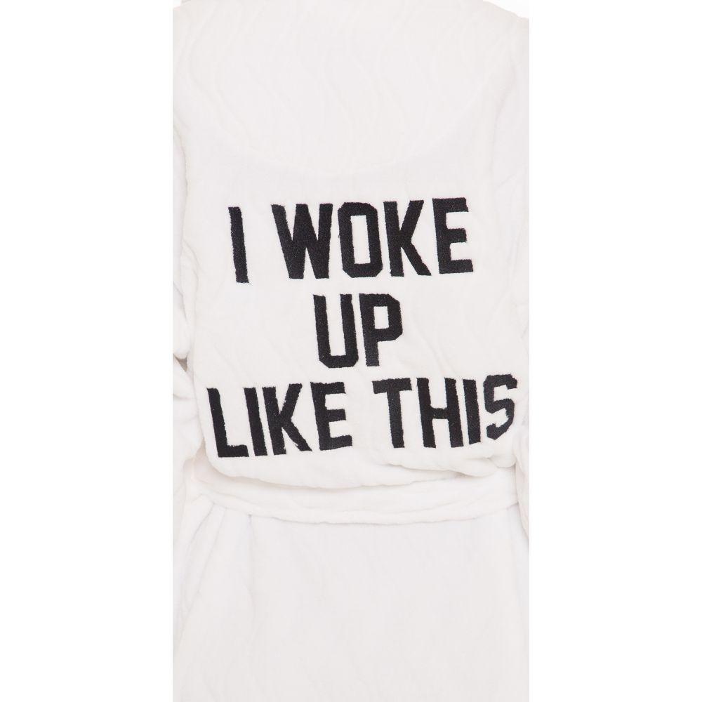プライベート パーティー Private Party レディース インナー・下着 ガウン・バスローブ【I Woke Up Like This Robe】White