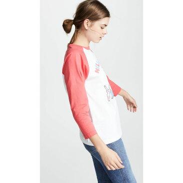 チンティ アンド パーカー Chinti and Parker レディース トップス 長袖Tシャツ【Hello Kitty Baseball Tee】White/Red