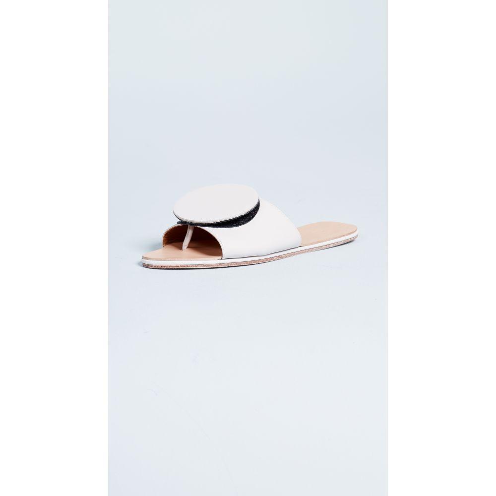 パラティン The Palatines レディース シューズ・靴 サンダル・ミュール【Caeleste Origami Slides】White/Black