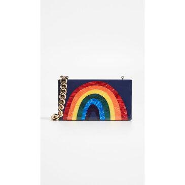 エディー パーカー Edie Parker レディース バッグ クラッチバッグ【Rainbow Jean Clutch】Navy Rainbow