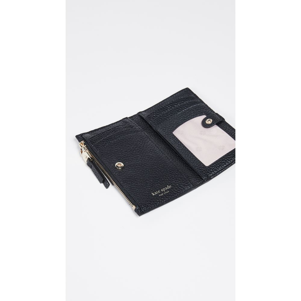 ケイト スペード Kate Spade New York レディース 財布【Polly Small Slim Bifold Wallet】Black