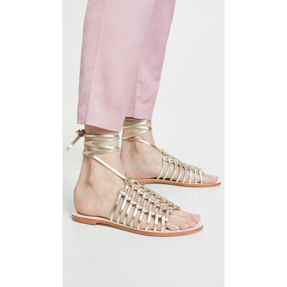 カーナス KAANAS レディース シューズ・靴 サンダル・ミュール【Porto Alegre Multi Knot Sandals】Gold