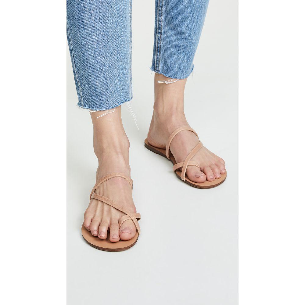 スプレンディッド Splendid レディース シューズ・靴 サンダル・ミュール【Trenton Toe Ring Slides】Nude