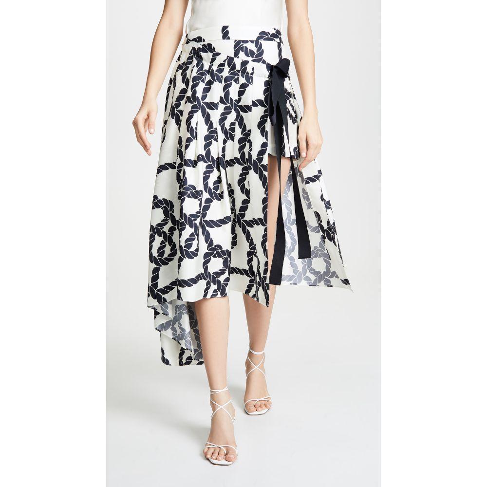 モンス Monse レディース ボトムス・パンツ ショートパンツ【Rope Print Apron Shorts】Ivory/Navy