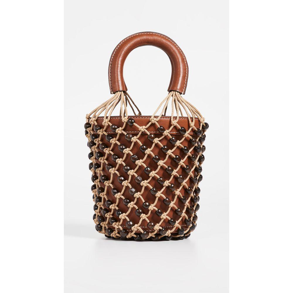 スタッド STAUD レディース バッグ ハンドバッグ【Beaded Moreau Bag】Brown/Natural/Brown