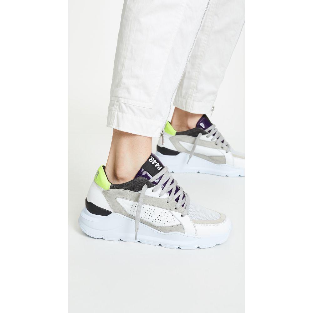 ピーフォーフォーエイト P448 レディース シューズ・靴 スニーカー【Leia Sneakers】White