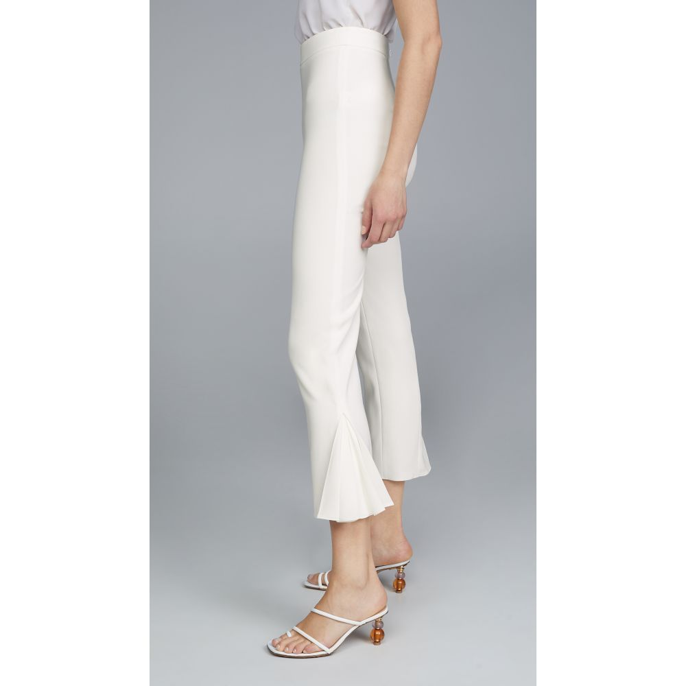 クシュニーエオクス Cushnie レディース ボトムス・パンツ クロップド【High Waisted Cropped Fitted Pants】White