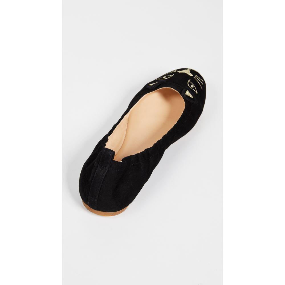 シャーロット オリンピア Charlotte Olympia レディース シューズ・靴 スリッポン・フラット【Kitty Ballerina Flats】Black