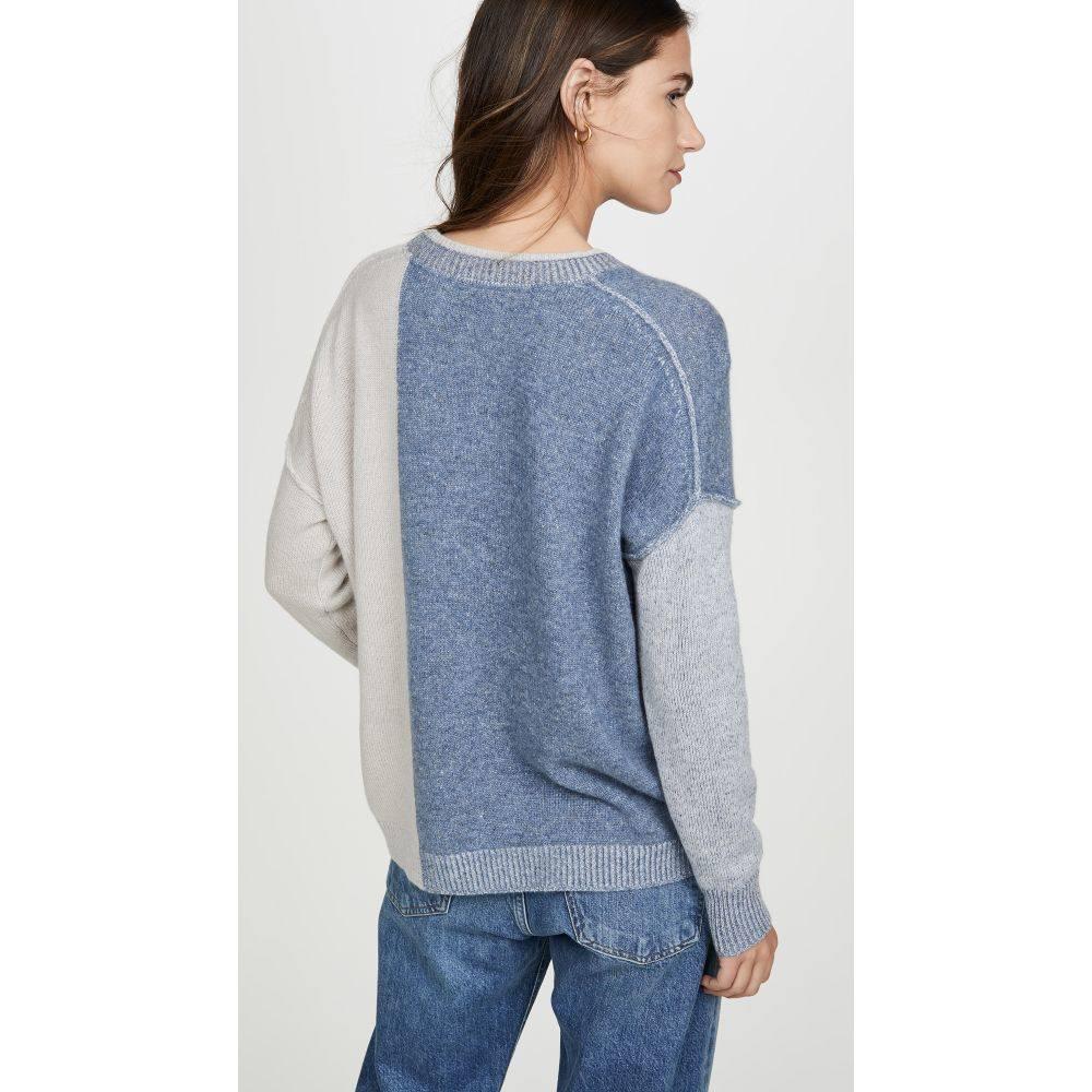 ブロシュウウォーカー Brochu Walker レディース トップス ニット・セーター【Ila Colorblock Cashmere Sweater】Copen Blue Combo