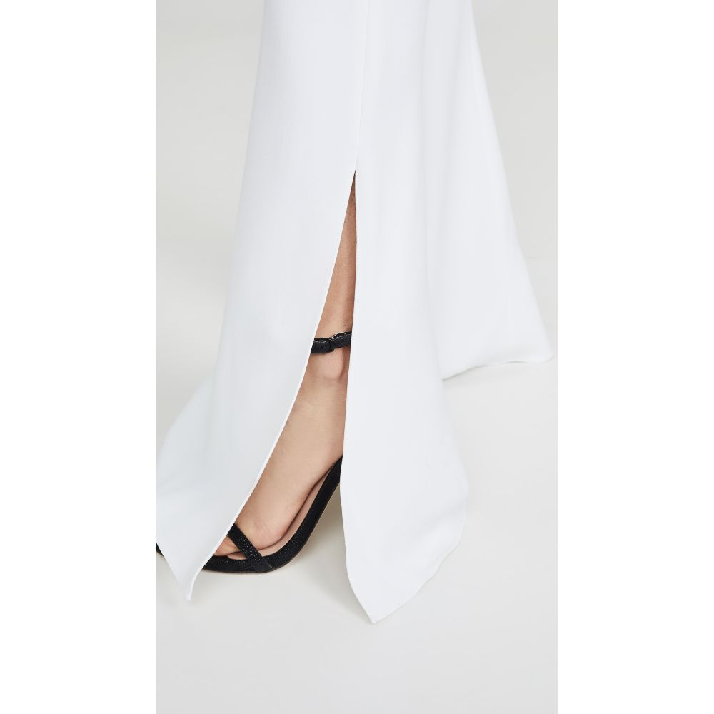 クシュニーエオクス Cushnie レディース ボトムス・パンツ【High Waisted Flare Pants】White