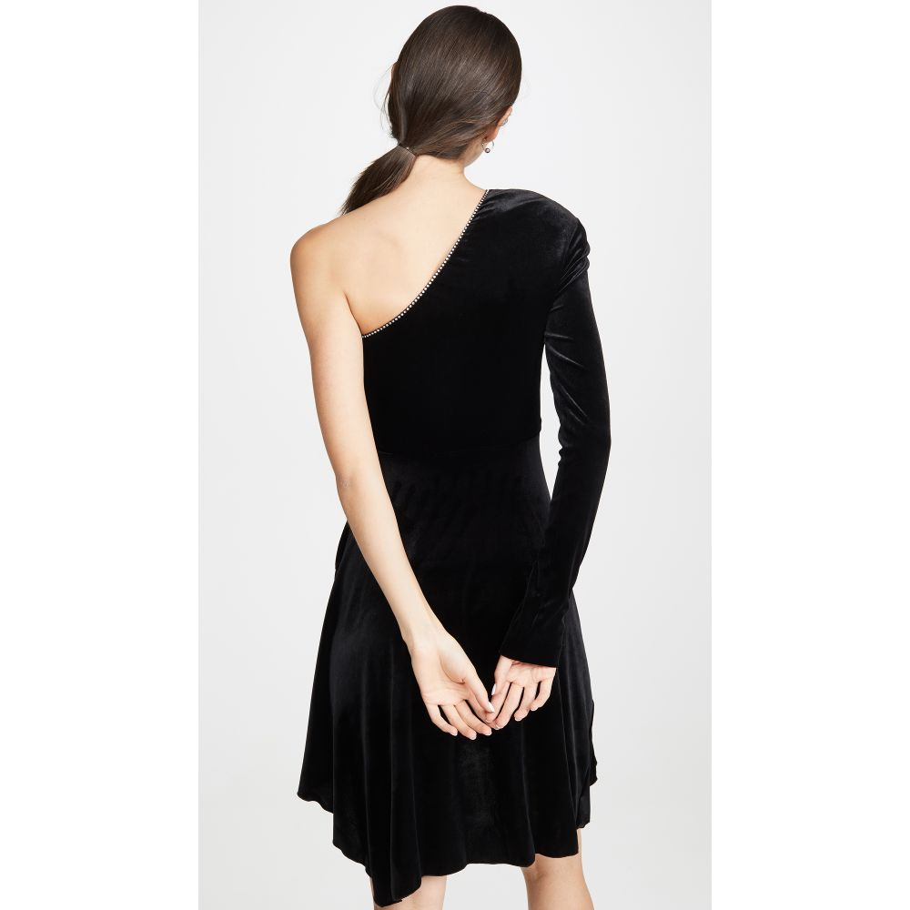 フィロソフィ ディ ロレンツォ セラフィニ Philosophy di Lorenzo Serafini レディース ワンピース・ドレス ワンピース【One Shoulder Velvet Mini Dress】Black