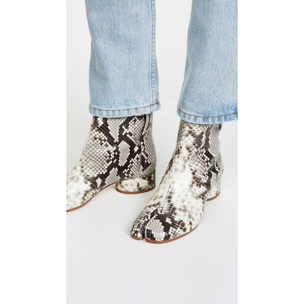 メゾン マルジェラ Maison Margiela レディース シューズ・靴 ブーツ【Tabi Low Heel Booties】Dirty White/Black
