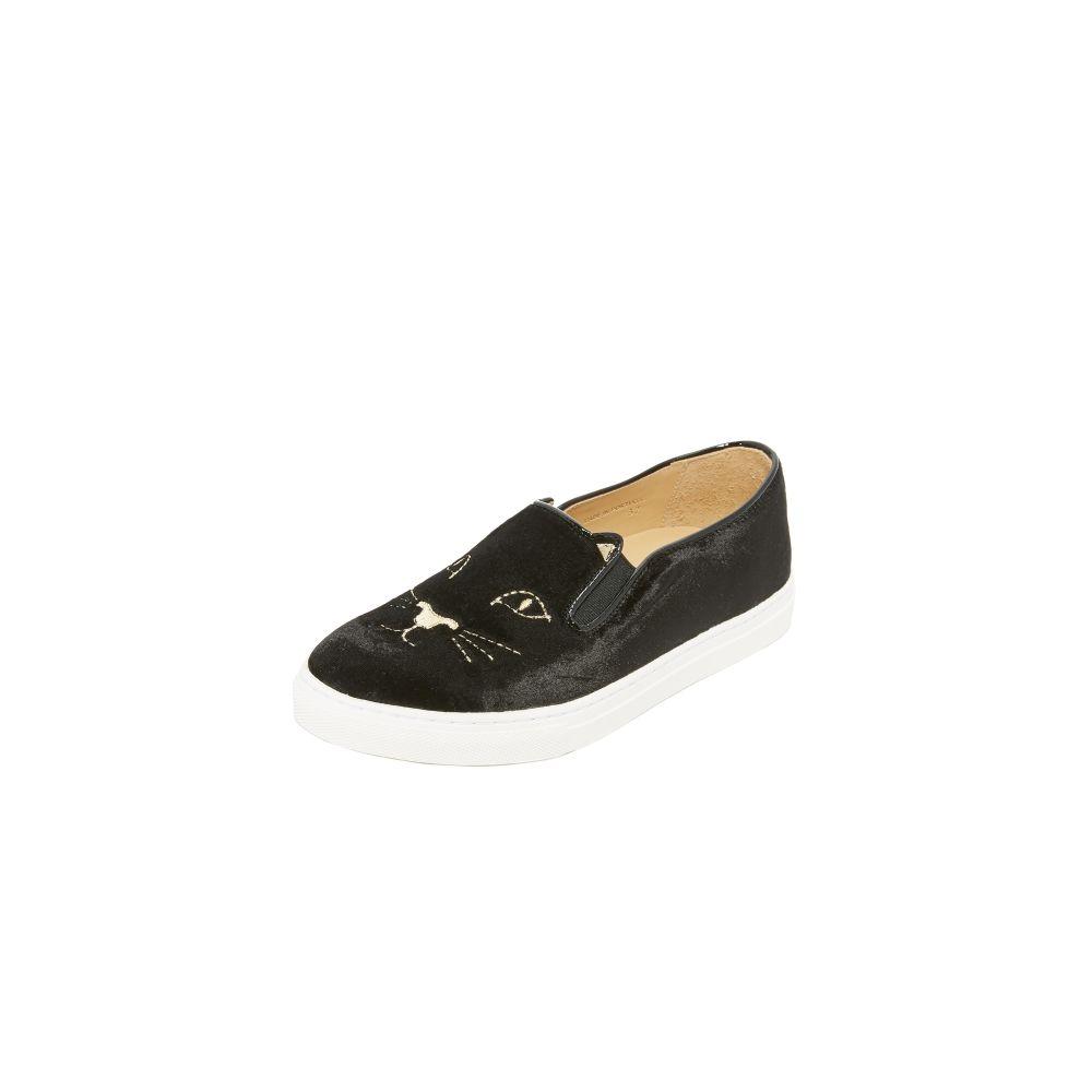 シャーロット オリンピア Charlotte Olympia レディース スリッポン・フラット シューズ・靴【Cool Cats Sneakers】Black画像