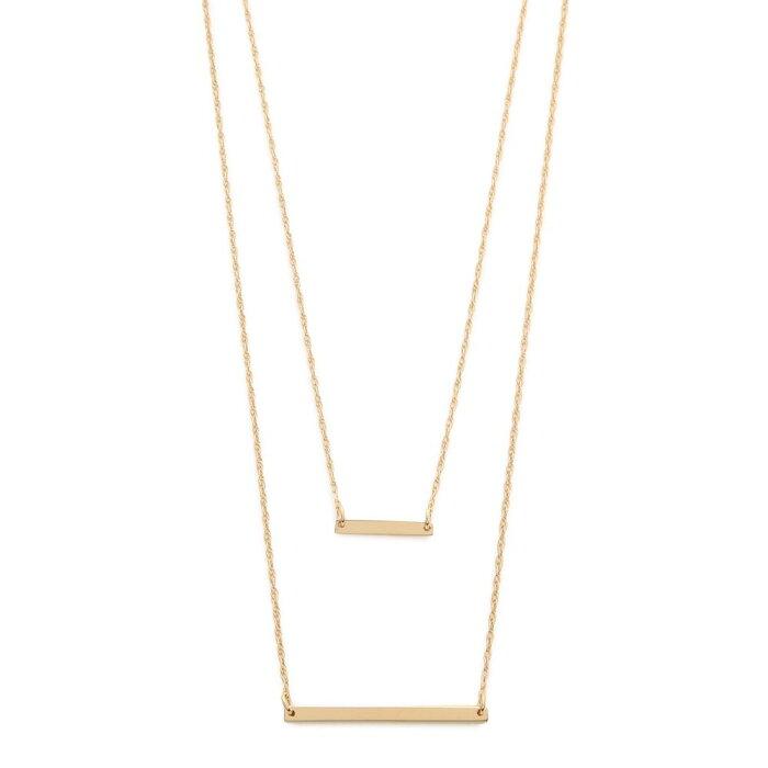 ジェニファーズーナー Jennifer Zeuner Jewelry レディース ネックレス ジュエリー・アクセサリー【Cynthia Necklace】Gold