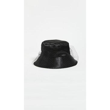 ジェニファーベア Jennifer Behr レディース ハット バケットハット 帽子【Elaine Veiled Bucket Hat】Black