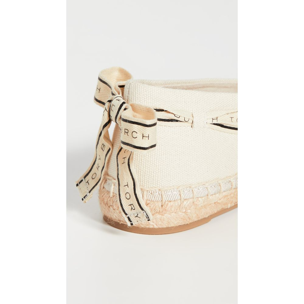 トリーバーチToryBurchレディースエスパドリーユシューズ・靴【LogoGrosgrainEspadrilles】NewCream/PerfectBlack