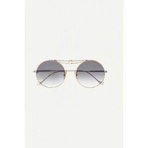 Loewe Loewe Ladies Glasses & Sunglasses Round [Round-frame silver and gold-tone sunglasses]