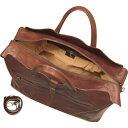 ローべ ディ フィレンツェ Robe di Firenze メンズ ボストンバッグ・ダッフルバッグ バッグ【Large Brown Italian Leather Carry All Travel Bag】 2