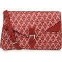 ランカスター Lancaster Paris レディース ショルダーバッグ バッグ【Ikon Coated Canvas Flap Crossbody Bag】Red