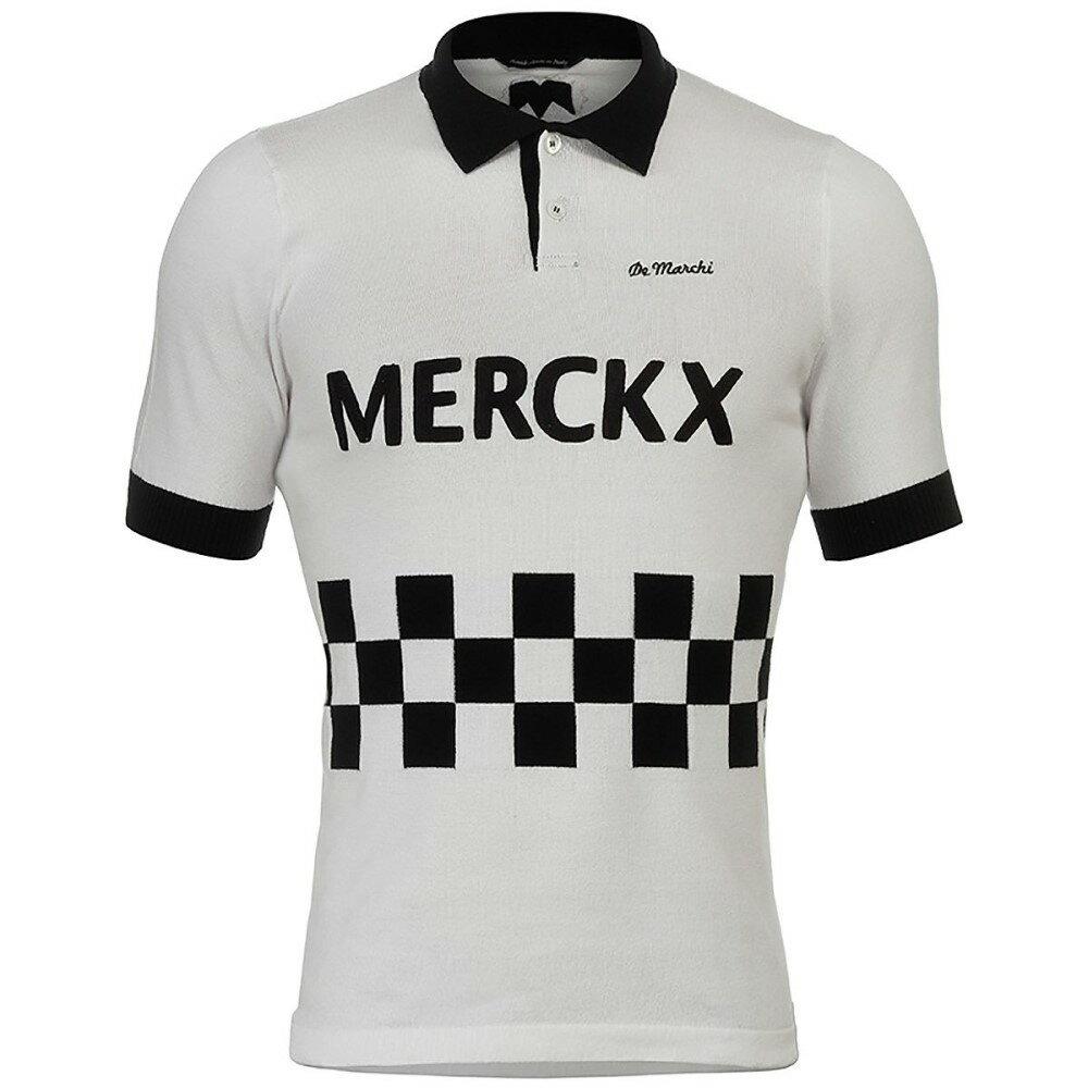 デマルキ De Marchi メンズ サイクリング ウェア【Blockhaus 67 Cotton Polo Jerseys】White/Black:フェルマート