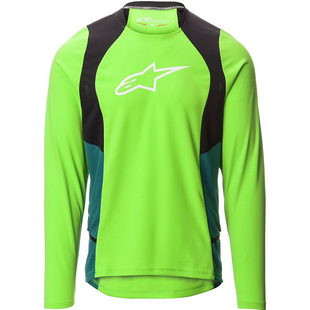 アルパインスター メンズ 自転車 トップス【Drop 2 Jersey - Long Sleeves】Green Black Shaded Spruce