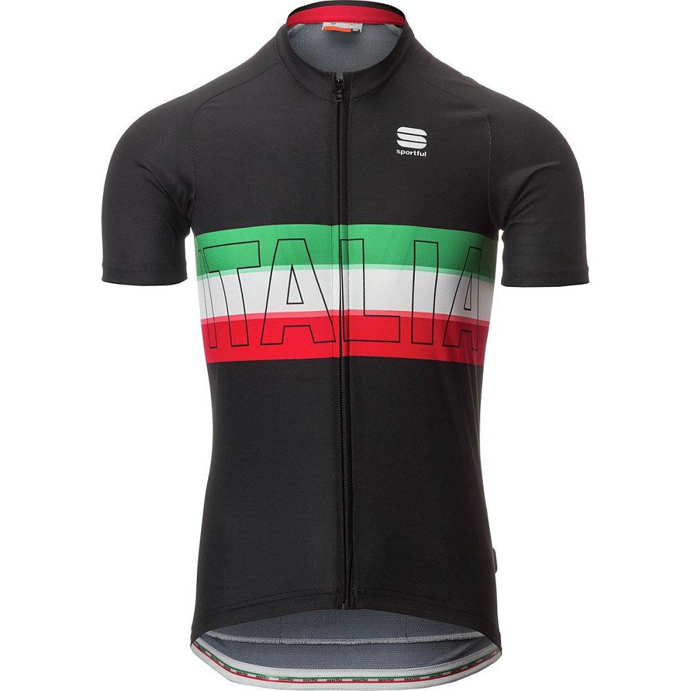 スポーツフル メンズ 自転車 トップス【Italia Jerseys】Black