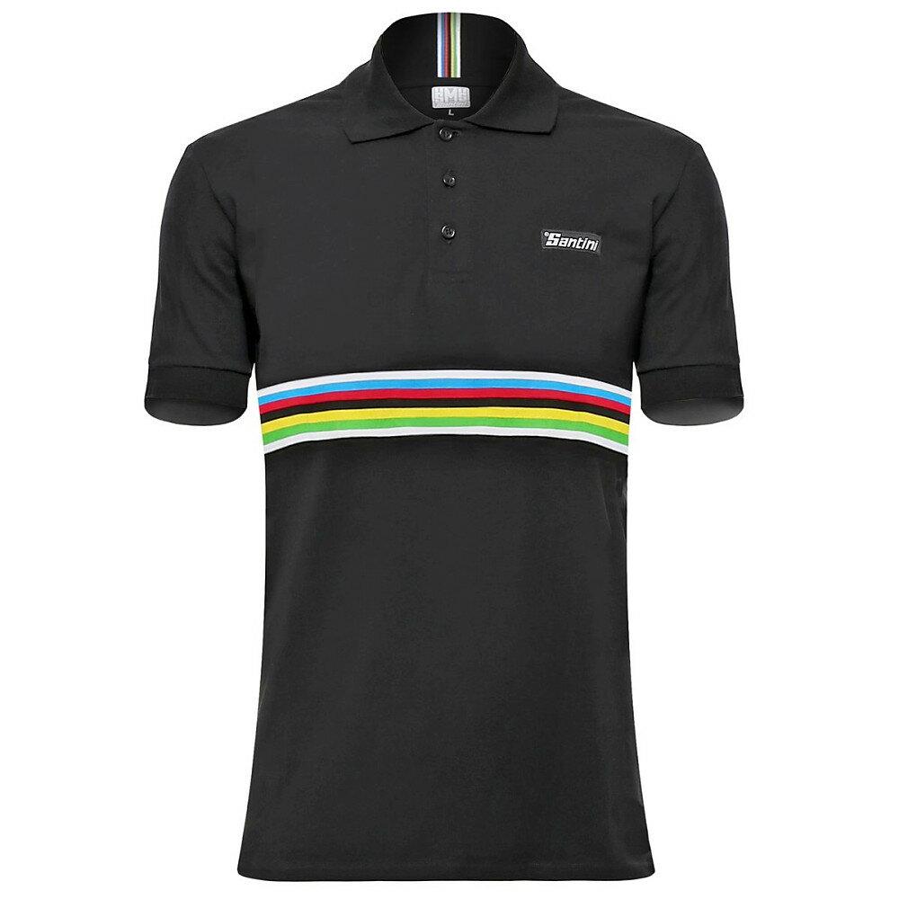 サンティーニ メンズ 自転車 トップス【UCI Polo Shirts】Black