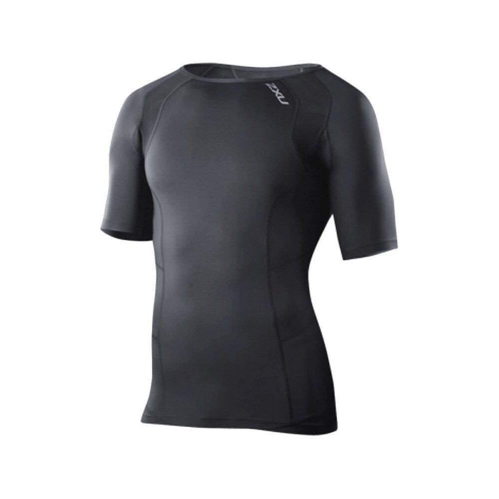 ツータイムズユー メンズ 自転車 トップス【Compression Top - Short - Sleeves】Black/Black
