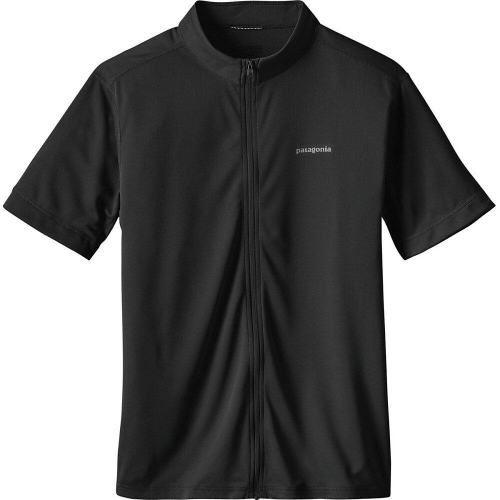 パタゴニア メンズ 自転車 トップス【Crank Craft Jersey - Short - Sleeves】Black