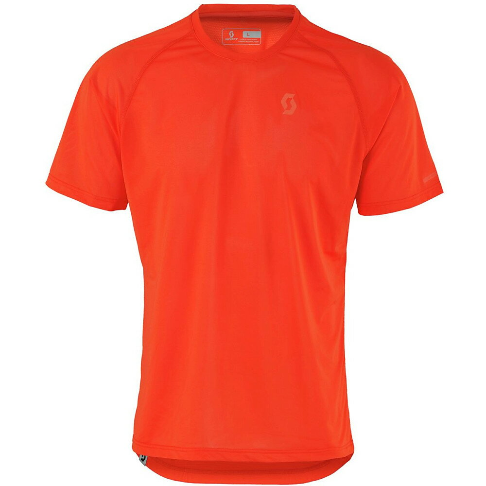 スコット メンズ 自転車 トップス【Trail MTN Aero Shirt - Short - Sleeves】Tangerine Orange