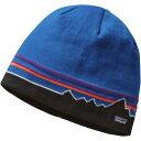 パタゴニア レディース 帽子 ニット【Beanie Hat】Classic Fitz Roy/Andes Blue