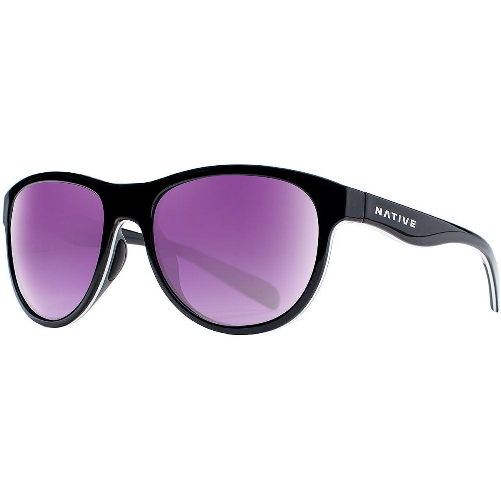 7859d02ac2bb ネイティブアイウェア レディース メガネ・サングラス【Acadia Sunglasses - Polarized】Gloss  Black/White/Gloss Black-Violet Reflex ネイティブアイウェア ...