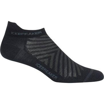 アイスブレーカー レディース インナー・下着 ソックス【Run Plus Ultra Light Anatomical Micro Sock】Black/Monsoon