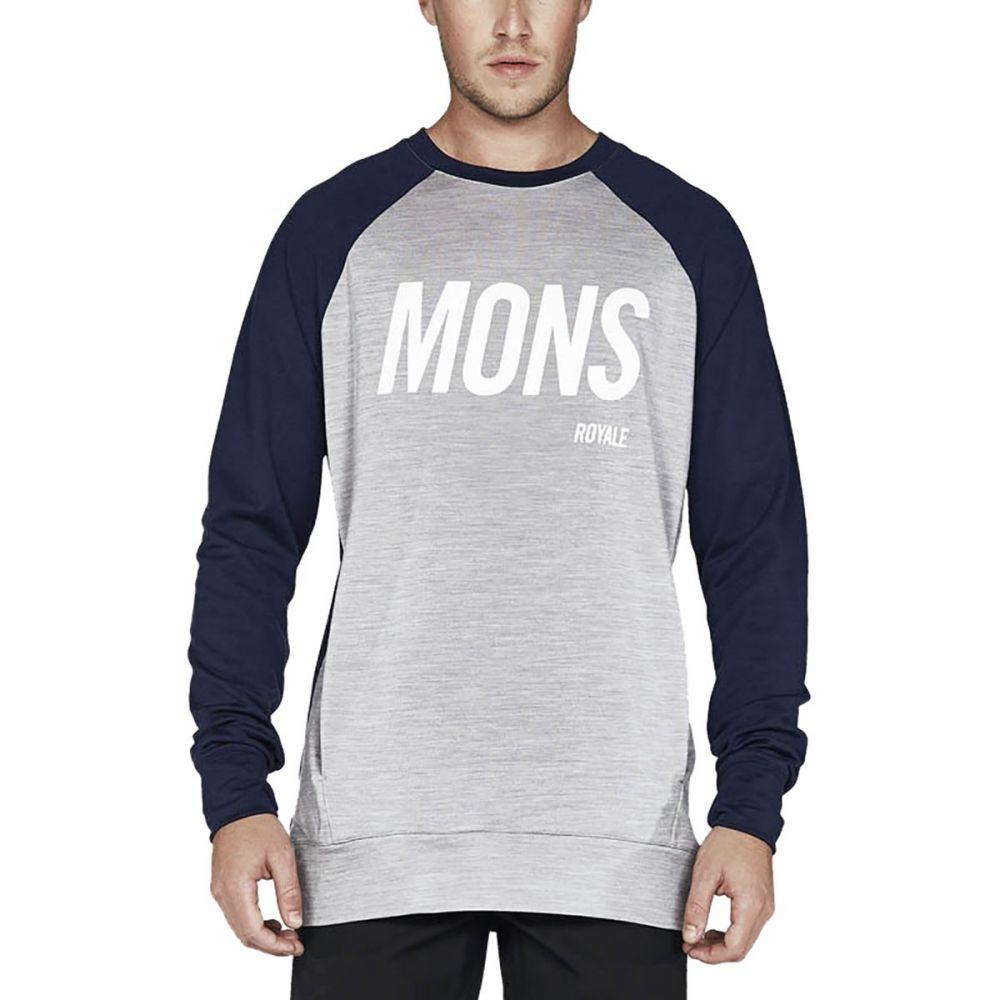 モンスロイヤル Mons Royale メンズ トップス スウェット・トレーナー【Covert Tech Crew Sweaters】Navy/Grey Marl