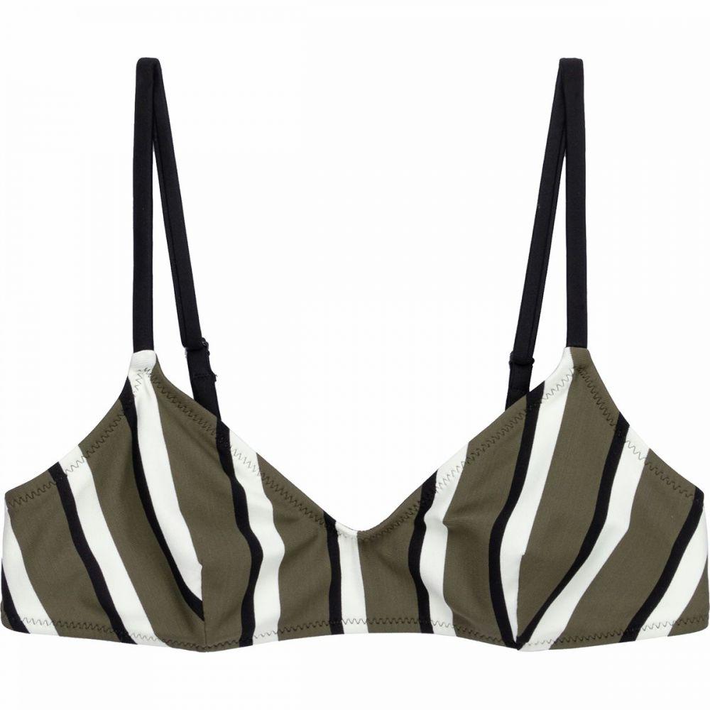 ソリッド&ストライプ Solid & Striped レディース トップのみ 水着・ビーチウェア【Rachel Bikini Top】Stripe - Olive/Cream/Black