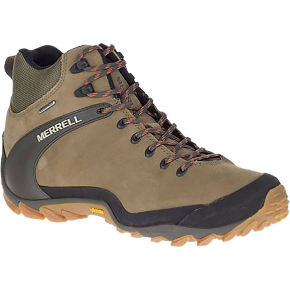 登山・トレッキング, 靴・ブーツ  Merrell Chameleon 8 Leather Mid Waterproof BootOlive