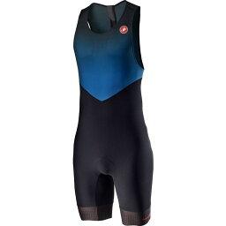 カステリ Castelli メンズ トライアスロン トライスーツ トップス【SD Team Race Suit】Azzurro Italia/Black