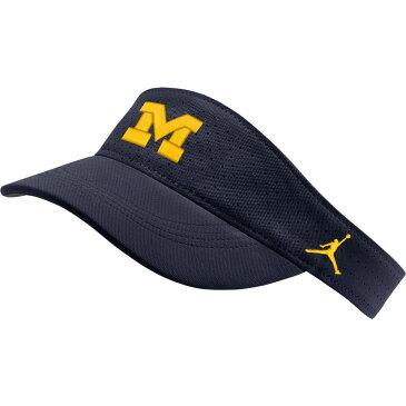 ナイキ ジョーダン Jordan メンズ サンバイザー 帽子【michigan wolverines blue aerobill football sideline visor】