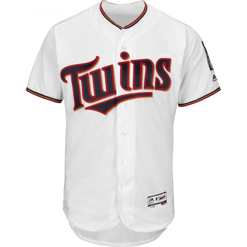 マジェスティック Majestic メンズ トップス【Full Roster Authentic Minnesota Twins Flex Base Home White On-Field Jersey】