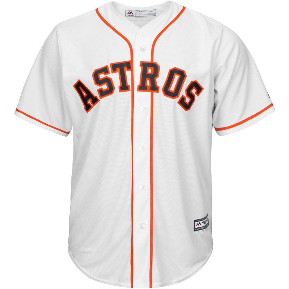 マジェスティック Majestic メンズ トップス【Replica Houston Astros Gerrit Cole #45 Cool Base Home White Jersey】