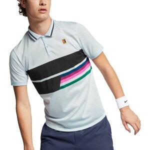 ナイキ Nike メンズ テニス ポロシャツ トップス【roger federer nikecourt advantage dri-fit tennis polo】Blue