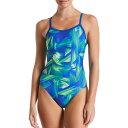 ナイキ Nike レディース 水着・ビーチウェア ワンピース【Twisted Break Racerback One Piece Swimsuit】Blue Green