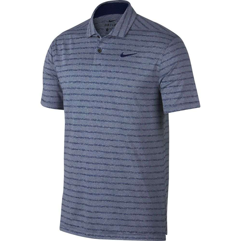 ナイキ Nike メンズ ゴルフ ポロシャツ トップス【Vapor Stripe Golf Polo】Blue Void