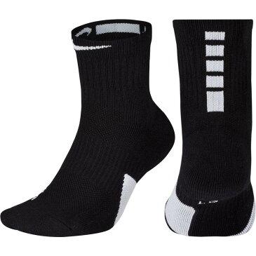 ナイキ Nike メンズ バスケットボール ソックス【Elite Basketball Mid Socks】Black/White