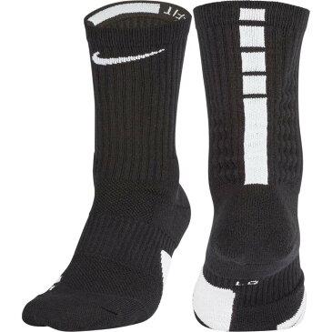 ナイキ Nike メンズ バスケットボール 【Elite Basketball Crew Socks】Black/White