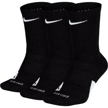 ナイキ Nike メンズ バスケットボール 3点セット【Elite Basketball Crew Socks - 3 Pack】Black/White